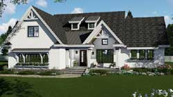 Modern-Farmhouse Style Home Design Plan: 38-540