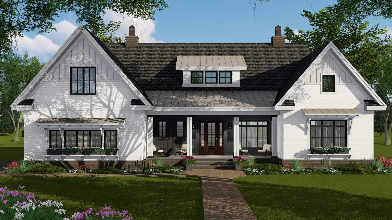 Modern-farmhouse House Plan - 4 Bedrooms, 3 Bath, 2514 Sq ...