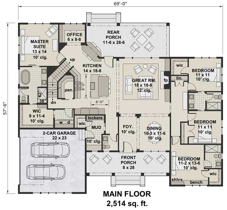 Main Floor Plan: 38-541