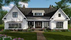 Modern-Farmhouse Style House Plans Plan: 38-541