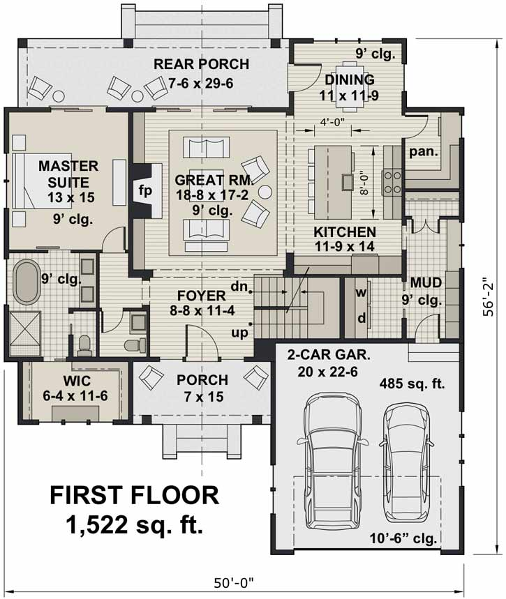 Main Floor Plan: 38-542