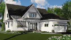 Modern-Farmhouse Style House Plans Plan: 38-542