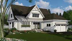 Modern-Farmhouse Style Floor Plans Plan: 38-543