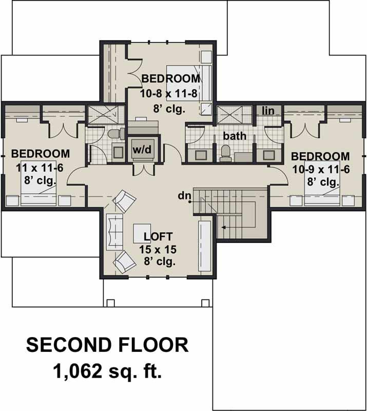 Upper/Second Floor Plan:38-543