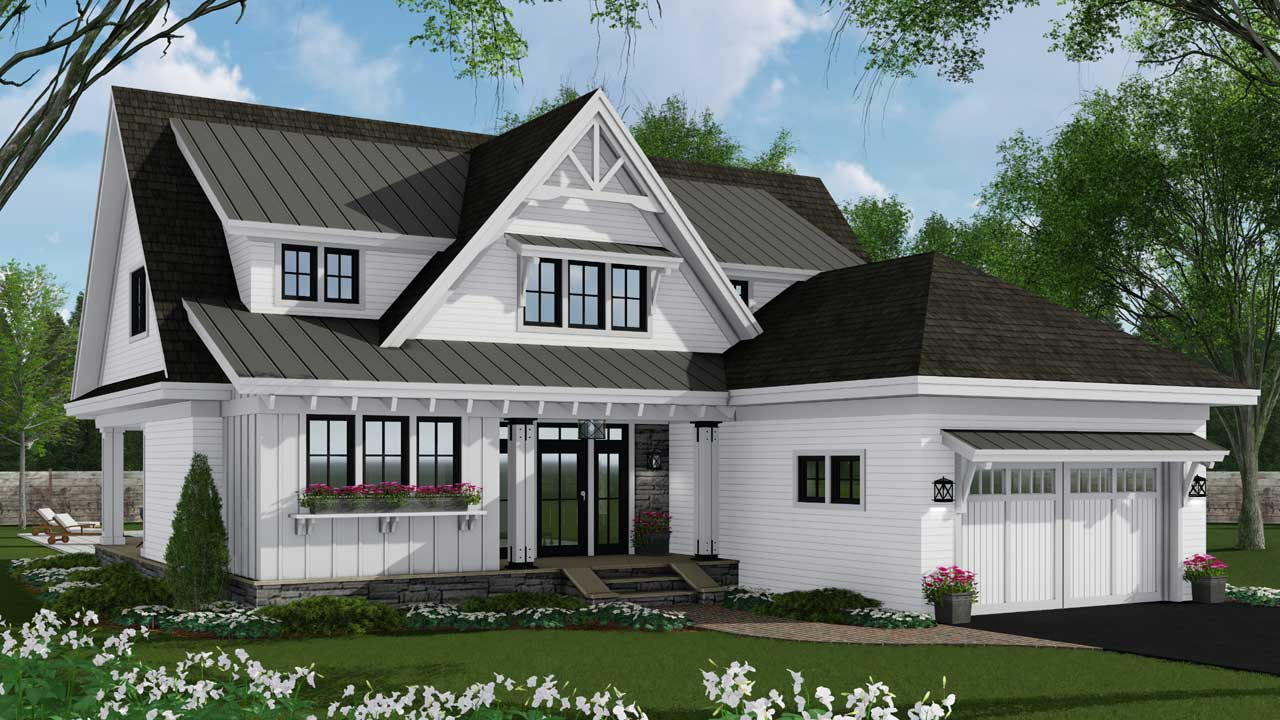 Modern-farmhouse Style Floor Plans Plan: 38-544
