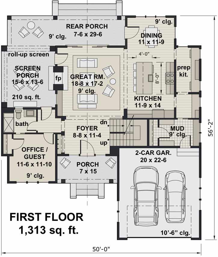 Main Floor Plan: 38-544