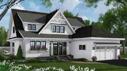 Modern-Farmhouse Style Home Design Plan: 38-544