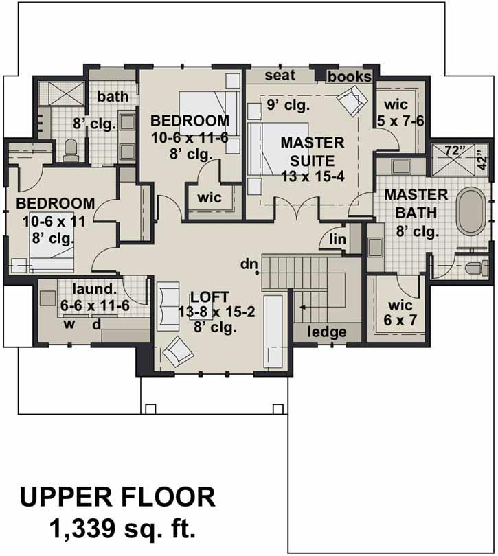 Upper/Second Floor Plan: 38-544