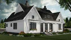 Modern-Farmhouse Style Home Design Plan: 38-547