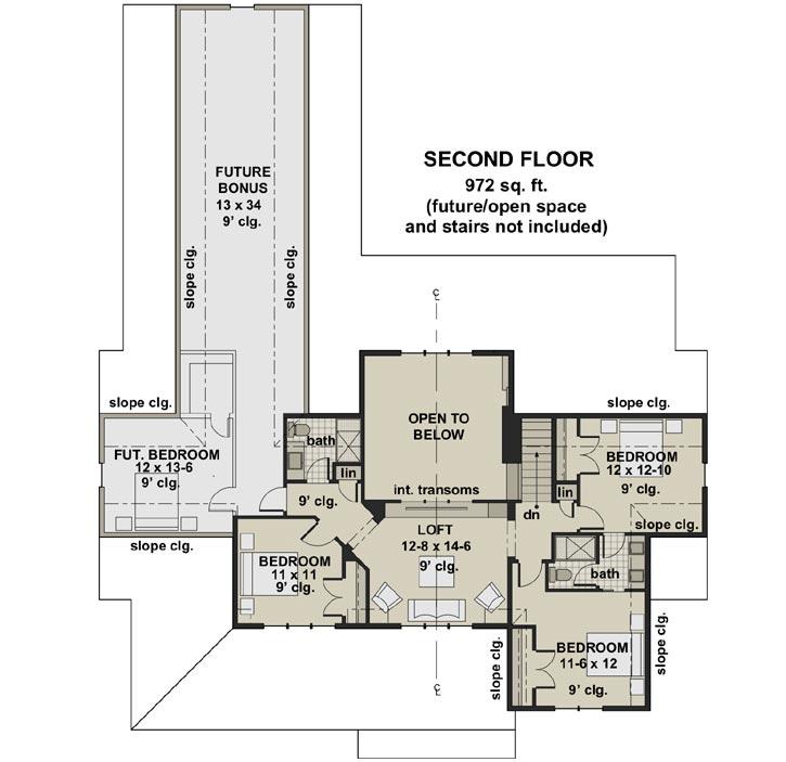 Upper/Second Floor Plan:38-548