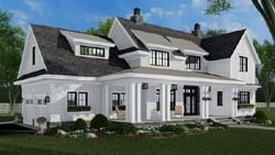 Modern-Farmhouse Style House Plans Plan: 38-549