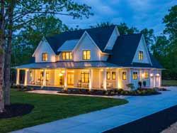 Modern-Farmhouse Style House Plans Plan: 38-553