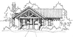 Mountain-or-Rustic Style Home Design Plan: 39-103