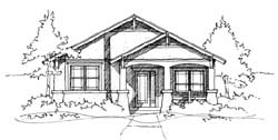 Craftsman Style Home Design Plan: 39-104