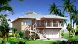 Coastal Style Home Design Plan: 39-105