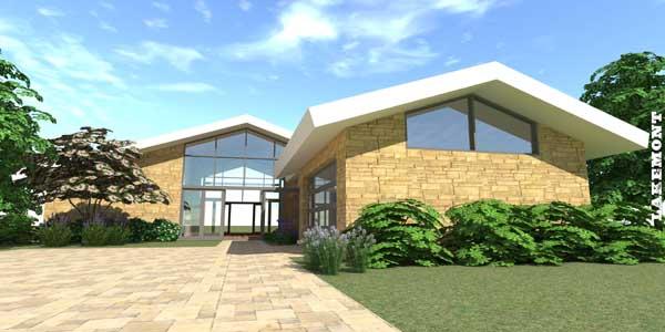 Contemporary Style Home Design Plan: 39-106