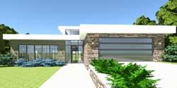 Modern Style Home Design Plan: 39-108