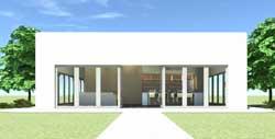 Modern Style Home Design Plan: 39-109