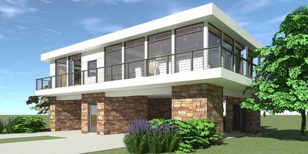Modern Style Home Design Plan: 39-112