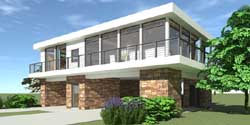 Modern Style House Plans Plan: 39-112