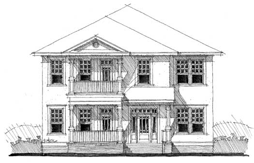 Traditional Style Home Design Plan: 39-114