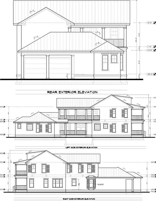 Rear Elevation Plan: 39-116