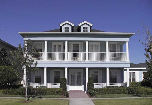 Southern-colonial Style Floor Plans Plan: 39-117