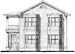 Southern Style Home Design Plan: 39-118