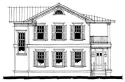 Southern-Colonial Style Floor Plans Plan: 39-120