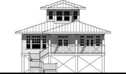 Coastal Style Home Design Plan: 39-126