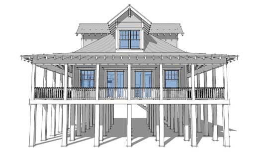 Coastal Style Home Design Plan: 39-132