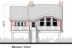 Coastal Style Home Design Plan: 39-133