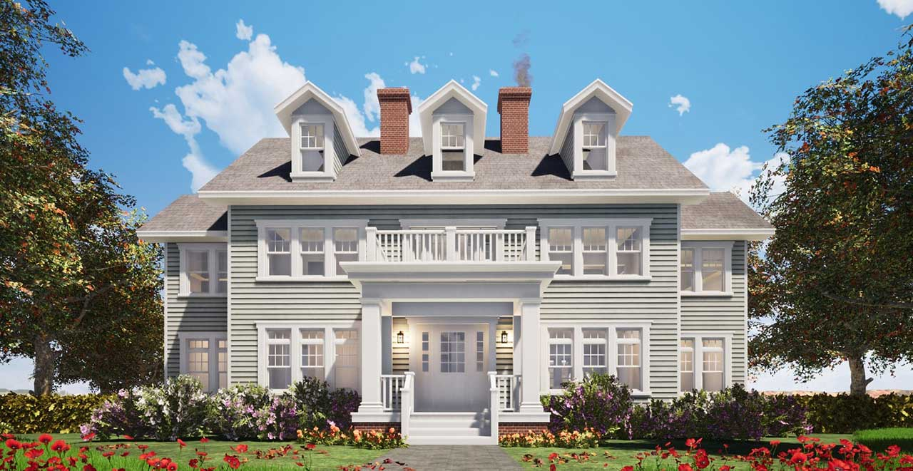 Southern-colonial Style Home Design Plan: 39-139