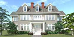 Southern-Colonial Style Floor Plans Plan: 39-139