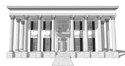 Greek-Revival Style Home Design Plan: 39-142