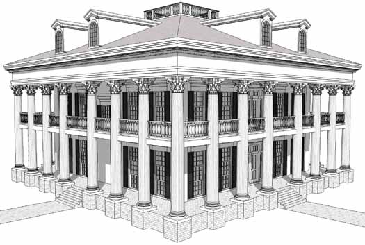 Greek-revival Style Floor Plans
