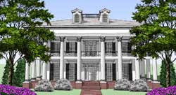 Greek-Revival Style Home Design 39-147