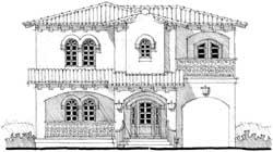 Mediterranean Style House Plans Plan: 39-150