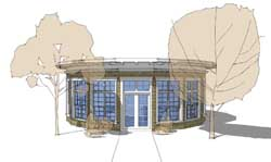Modern Style Home Design Plan: 39-155