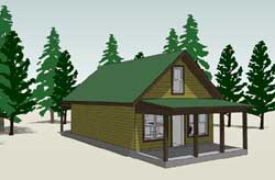 Country Style Home Design Plan: 39-163