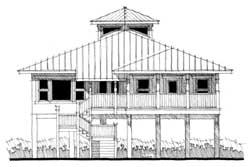 Coastal Style Home Design Plan: 39-164