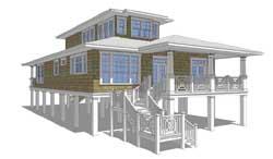 Coastal Style Home Design Plan: 39-165