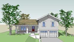 Craftsman Style Home Design Plan: 39-166