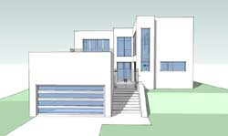 Modern Style Home Design Plan: 39-170