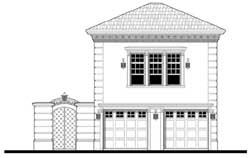 Mediterranean Style Home Design Plan: 39-183