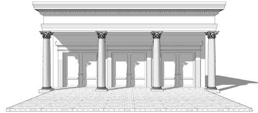 Greek-revival Style Home Design Plan: 39-186