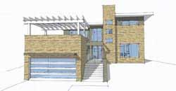Modern Style Home Design Plan: 39-188