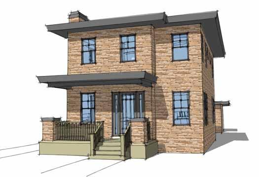 Modern Style House Plans Plan: 39-193