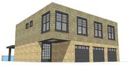 Modern Style Home Design Plan: 39-196