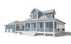 Coastal Style Floor Plans Plan: 39-201
